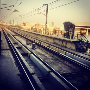 Delhi Metro track, India