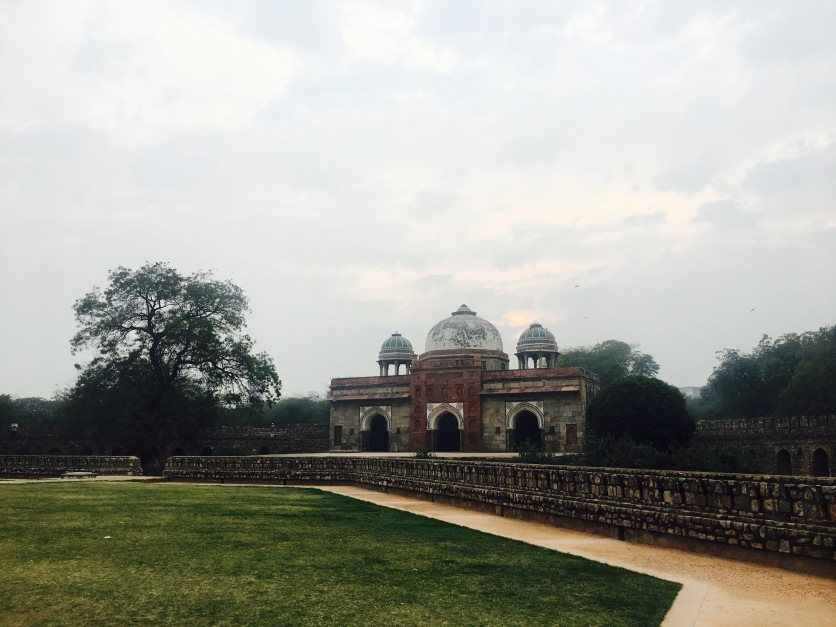 A mosque(under-restoration) in Humayun Tomb