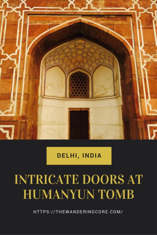 Intricate Doors at Humayun Tomb