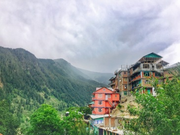 Homes in hill top in Sangla Valley