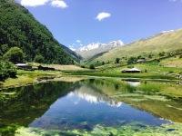 Sangla Kanda Lake from Sangla Valley Himachal Pradesh India