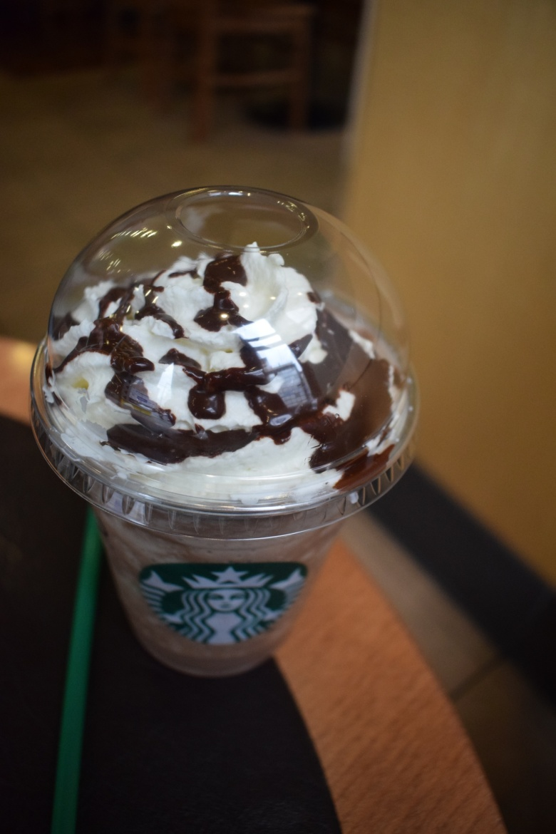 Starbucks cold coffee from top