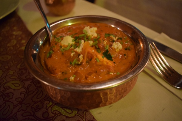 Paneer curry In Indian Jewel Restaurant in Prague